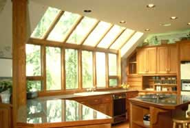 Professionally cleaned kitchen windows